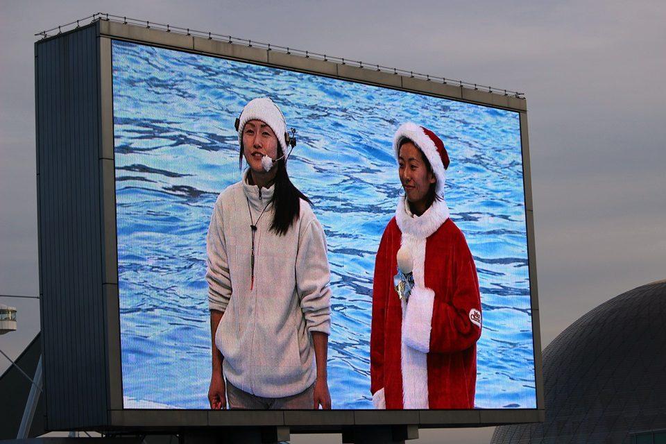 名古屋港水族館 メインプールモニター