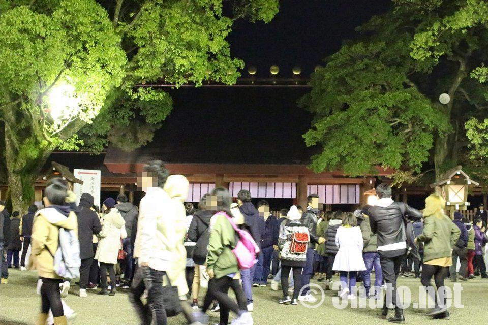 2017年元旦の熱田神宮本殿