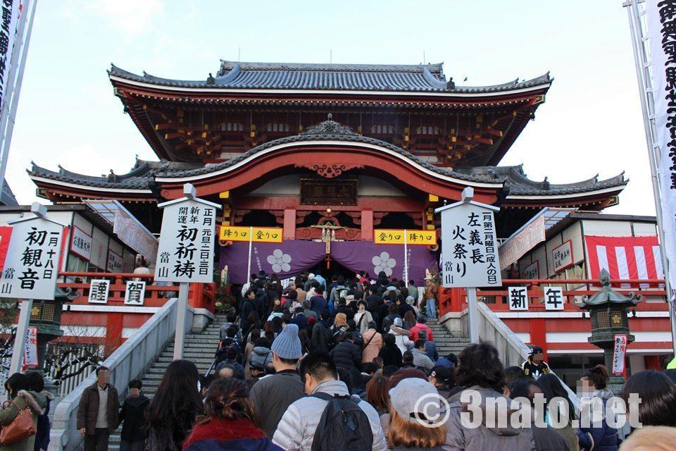 大須観音 参拝客の列
