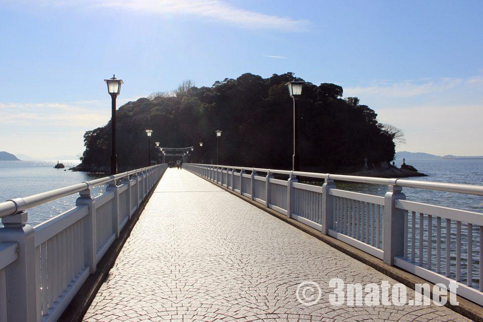 竹島へとつながる橋