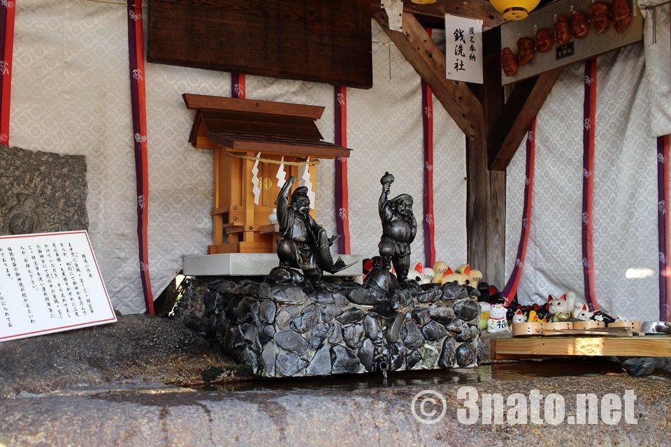 金神社(名古屋市北区) 銭洗いの大黒様と恵比寿様