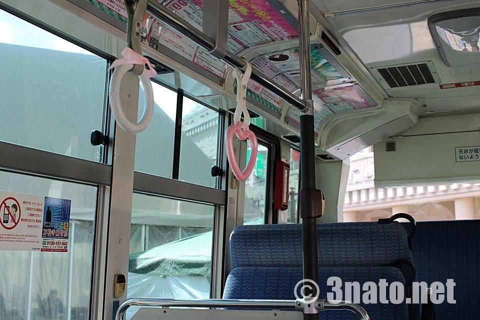 名古屋市営バス ハートの吊り革