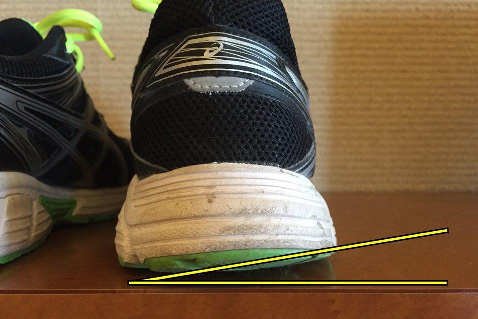 靴の片べり