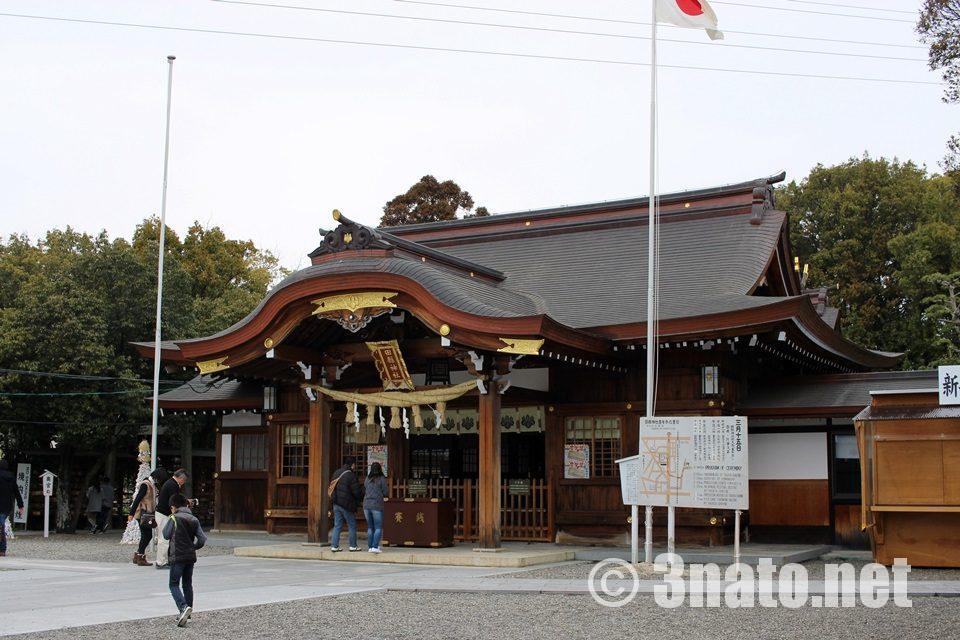 田縣神社 改修されたばかりの本殿