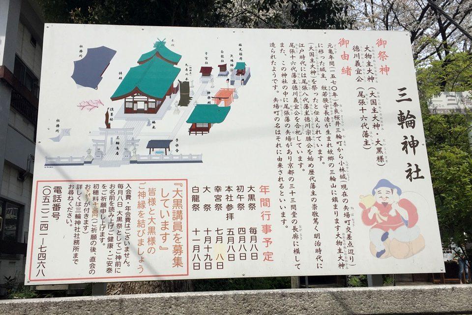 名古屋 矢場町 三輪神社