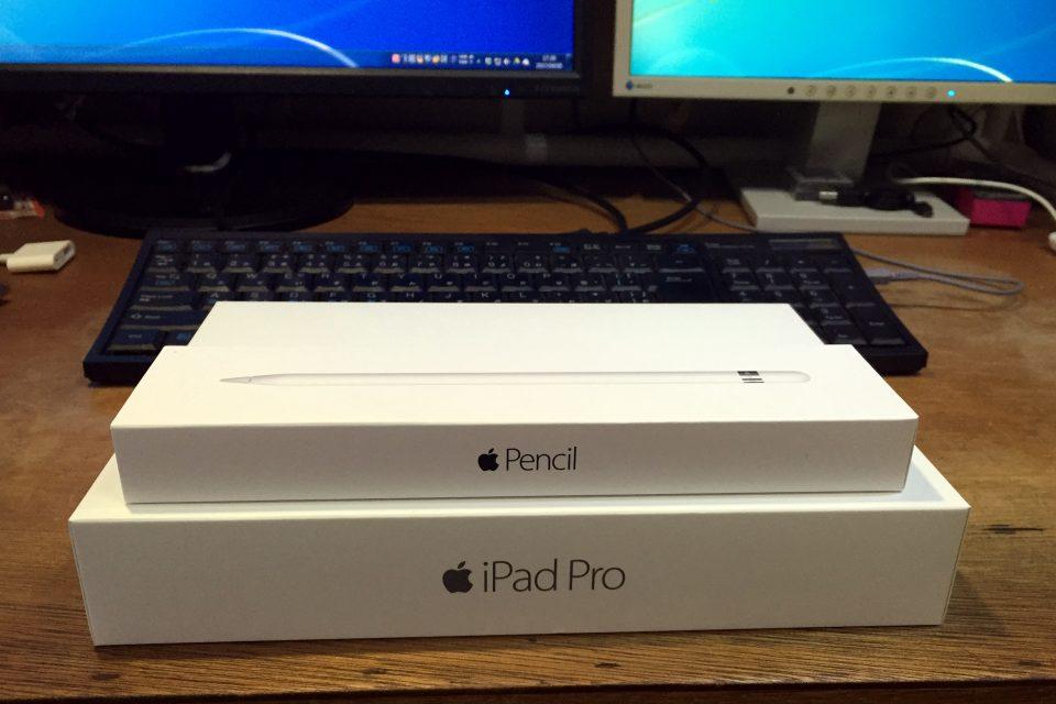 Apple Pencil と iPad Pro 128GB