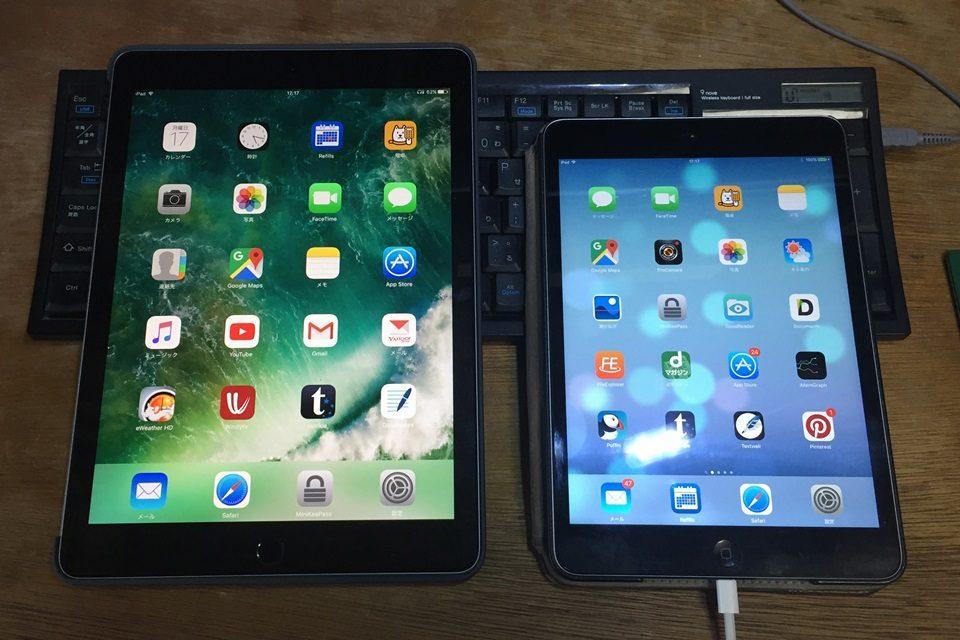 iPad Pro (左)iPad mini(右)
