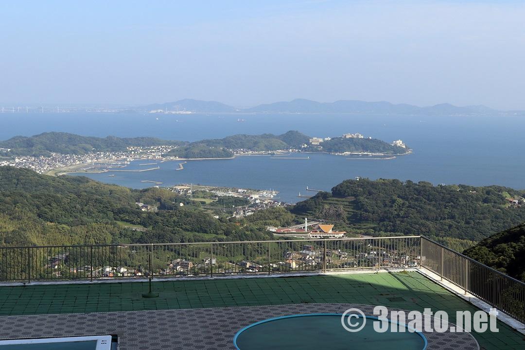 グリーンホテル三ヶ根より眺める西浦温泉街