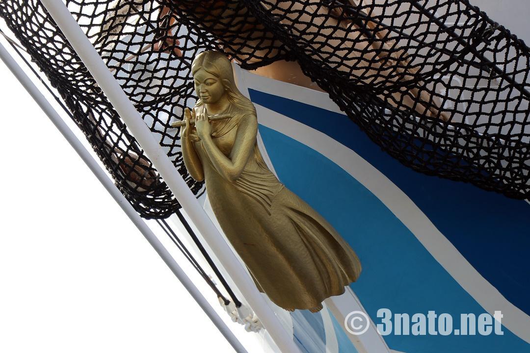 海王丸の船首像(名古屋港ガーデンふ頭)撮影日:2017/11/11