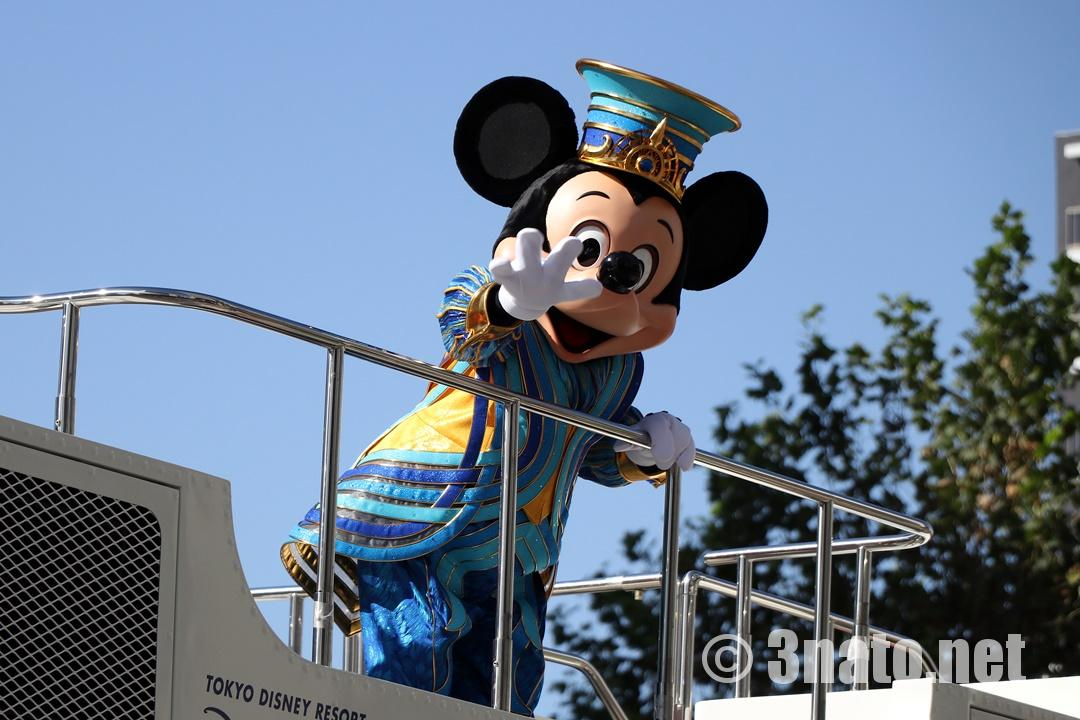 ディズニーパレードでのミッキーマウス(名古屋まつり)撮影日:2018/10/21